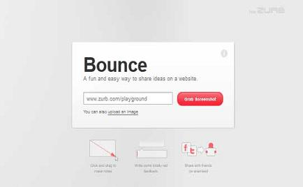 "Preview Of "" Bounce ""  Application"