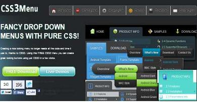 "Preview Of  "" CSS3Menu ""  Application"