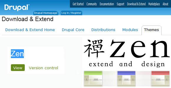 Zen Drupal Theme