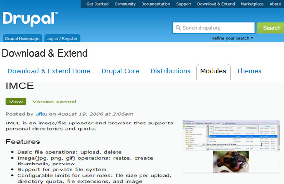 IMCE -Drupal Module