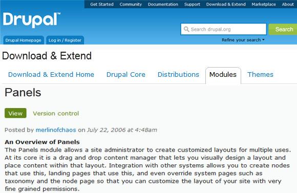 Panels -Drupal Module
