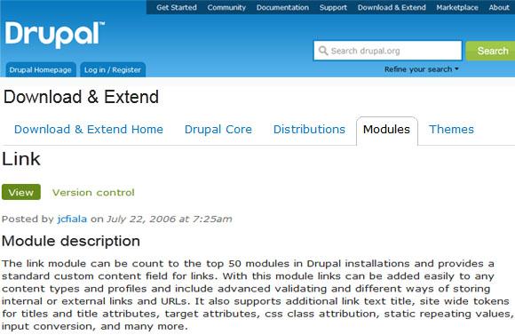 link - Drupal Module