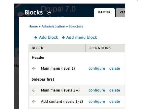 Menu-Block