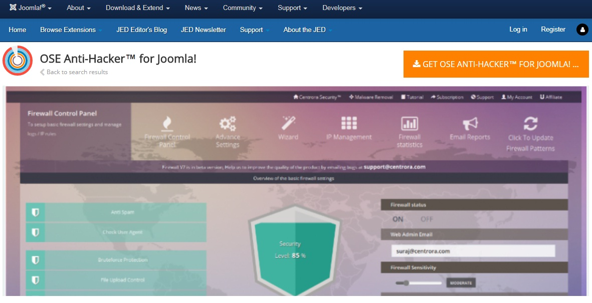 OSE Anti-Hacker for Joomla